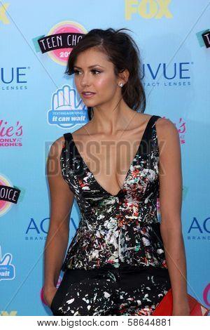 Nina Dobrev at the 2013 Teen Choice Awards Arrivals, Gibson Amphitheatre, Universal City, CA 08-11-13