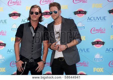 Florida Georgia Line at the 2013 Teen Choice Awards Arrivals, Gibson Amphitheatre, Universal City, CA 08-11-13
