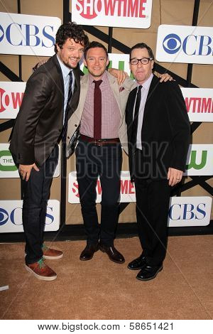 Matt Jones, Nate Corddry and French Stewart at the CBS, Showtime, CW 2013 TCA Summer Stars Party, Beverly Hilton Hotel, Beverly Hills, CA 07-29-13