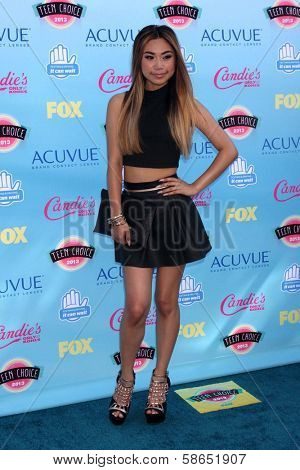 Jessica Sanchez at the 2013 Teen Choice Awards Arrivals, Gibson Amphitheatre, Universal City, CA 08-11-13