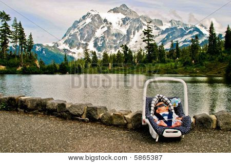 Baby By Mountain