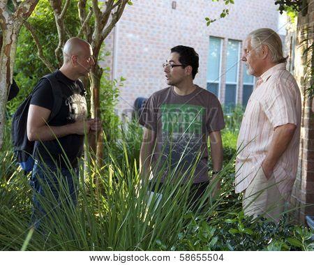 Loris Curci, Patricio Valledares, William Forsythe on set of