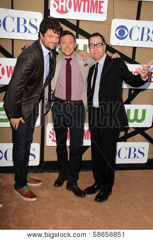 Matt Jones, Nate Corddry, French Stewart at the CBS, Showtime, CW 2013 TCA Summer Stars Party, Beverly Hilton Hotel, Beverly Hills, CA 07-29-13