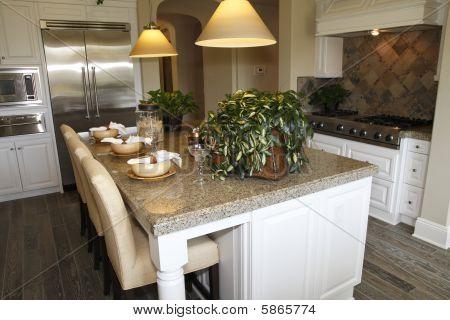 Modern luxury home kitchen.