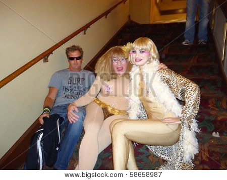 Dewey Weber, Cousin Wonderlette, Rena Riffel at the Peaches Christ SHOWGIRLS Night of 1000 Showgirls Event featuring Rena Riffel, Castro Theater, San Francisco, CA 08-24-13