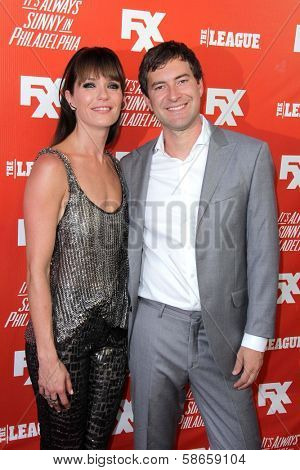 Katie Aselton and Mark Duplass at the FXX Network Launch Party and
