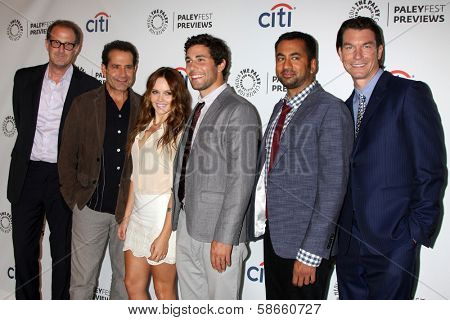 Rob Greenberg, Tony Shalhoub, Rebecca Breeds, Chris Smith, Kal Pen, Jerry O'Connell at the PaleyFest Previews:  Fall TV CBS -