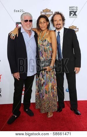 Ron Perlman, Blake Perlman, Kim Coates at the