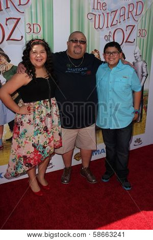 Raini Rodriguez, Rico Rodriguez and father at