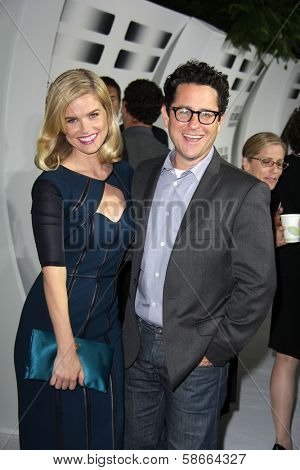 Alice Eve and J.J. Abrams at the