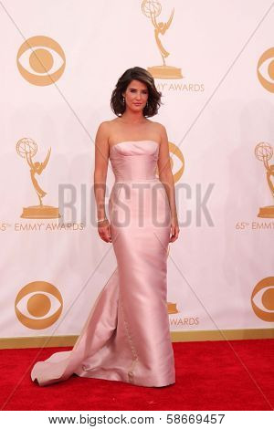 Cobie Smulders at the 65th Annual Primetime Emmy Awards Arrivals, Nokia Theater, Los Angeles, CA 09-22-13