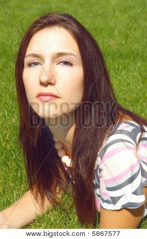 Portrait Of A Young Brunette Women