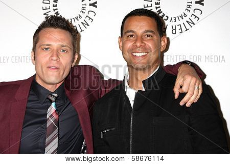 Seamus Dever and Jon Huertas at the An Evening with