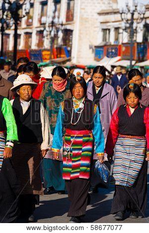 Traditional Tibetan Women Clothes Headpiece Lhasa