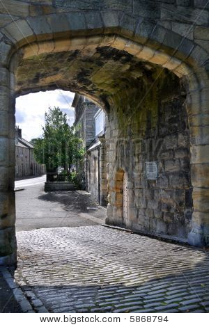 Warkworth Bridge And Gate