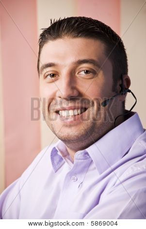 Happy Smiling Support Operator