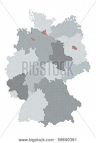 German map raster