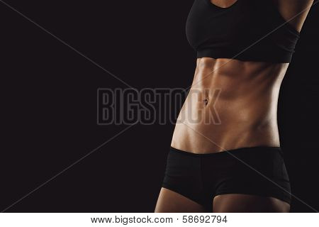 Slim And Fit Woman Belly