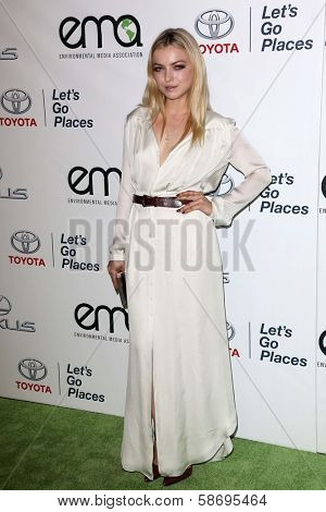 Francesca Eastwood at the 23rd Annual Environmental Media Awards, Warner Brothers Studios, Burbank, CA 10-19-13