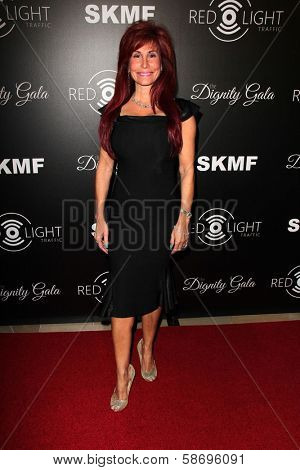 Suzanne DeLaurentiis Dignity Gala and Launch of Redlight Traffic App, Beverly Hilton Hotel, Beverly Hills, CA 10-18-13