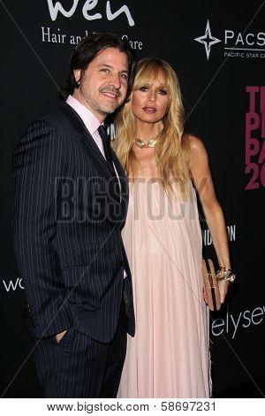 Rodger Berman and Rachel Zoe at the Pink Party 2013, Hangar 8, Santa Monica, CA 10-19-13