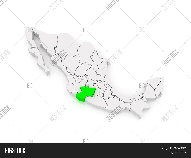 Map Michoacan Mexico Image Photo Free Trial Bigstock