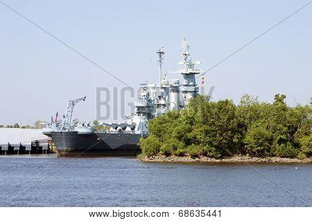 Wilmington,NC USA July 20,2014 USS North Carolina Battleship