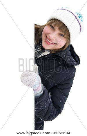 Smiling Girl Round The Corner