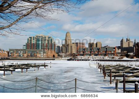 City Skyline In Winter
