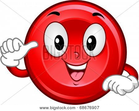 Mascot Illustration Featuring a Smiling Red Blood Cell