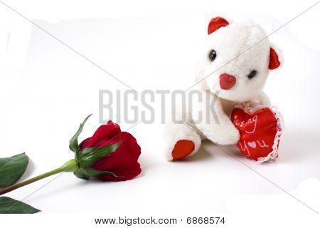 Teddy Bear And Rose