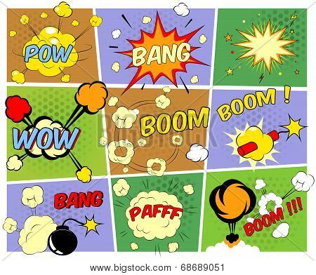 Mockups of comic book speech bubbles