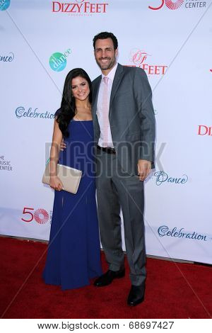LOS ANGELES - JUL 19:  Courtney Galiano, James Larosa at the 4th Annual Celebration of Dance Gala at Dorothy Chandler Pavilion on July 19, 2014 in Los Angeles, CA