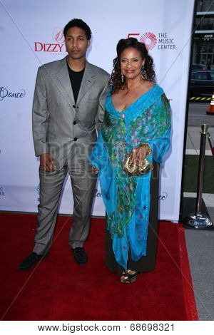 LOS ANGELES - JUL 19:  Debbie Allen, son at the 4th Annual Celebration of Dance Gala at Dorothy Chandler Pavilion on July 19, 2014 in Los Angeles, CA