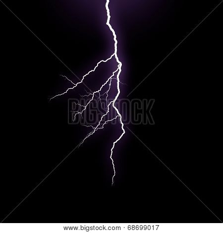 poster of A lightning strike on the black background