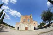Italy Tuscany region. Medieval San Galgano Abbey. poster