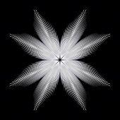 Single snowflake design poster