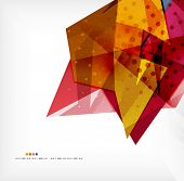 Abstract sharp angles background - business brochure layout poster