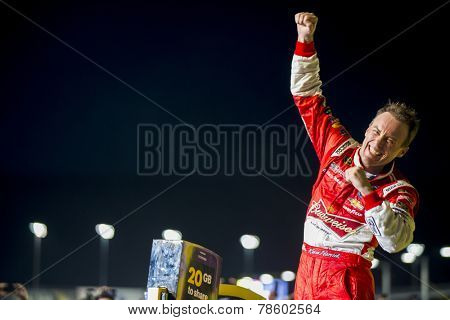 Homestead, FL - Nov 16, 2014:  Kevin Harvick (4) wins the NASCAR Sprint Cup Series Championship at Homestead-Miami Speedway in Homestead, FL.
