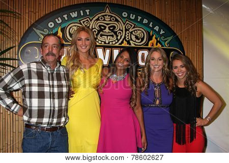 LOS ANGELES - DEC 17:  Keith Nale, Jaclyn Schultz, Natalie Anderson, MNissy Payne, Baylor Wilson at the