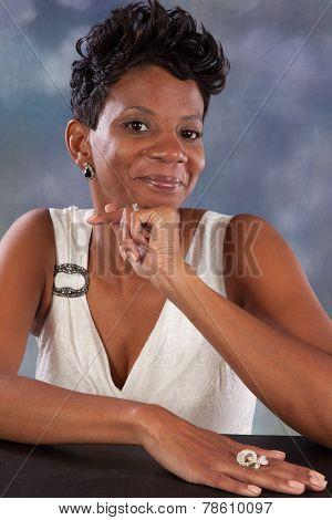 black woman smiling at the camera