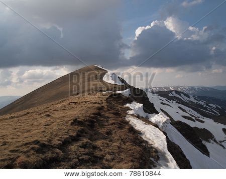 Carpathian mountains 7 under snow in spring