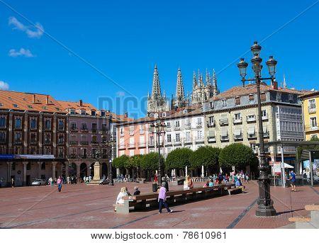 Burgos Cathedral And Plaza Mayor