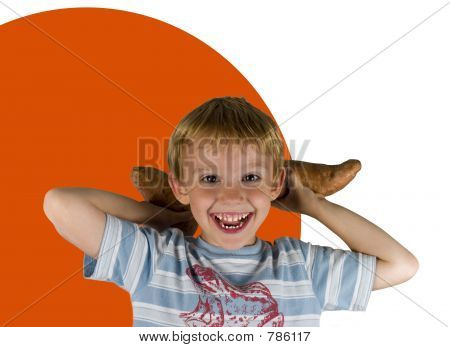 Boy Throwing Yams