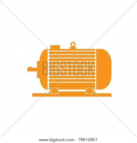Electric Motor On A White Fone.vektor.