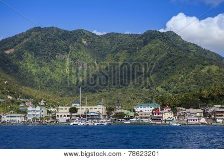 View of Castries, St Lucia, from the water