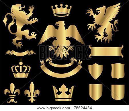 Gold Heraldry Ornaments