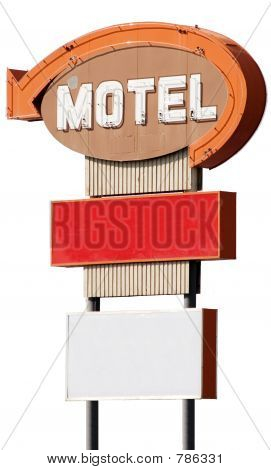 Motel Sign (Isolated)