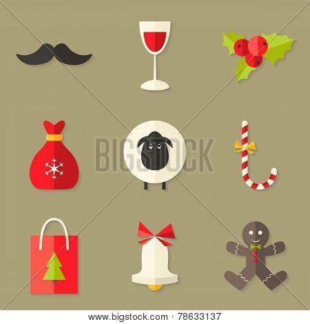 9 Christmas Icons Set 2
