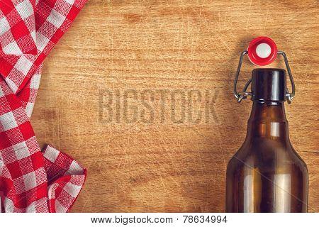 Empty Beer Bottle With Swing Flip Top Stopper